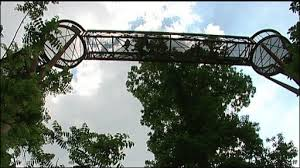 This is the Treetop Walkway at Kew Gardens.  Ours will be along similar lines if we raise enough money!